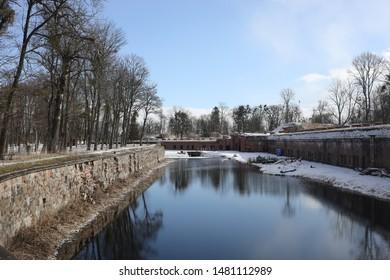 Fortress Fort in Kaliningrad in winter