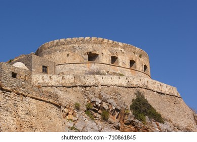 Fortress of the island of Spinalonga. Crete, Greece.