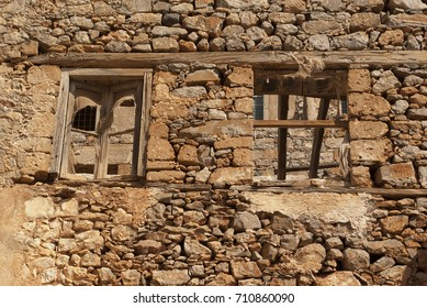 Fortress of the island of Spinalonga. Leprosarium. Crete, Greece.
