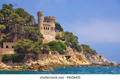 the Fortress of Lloret de Mar,Costa Brava,Spain