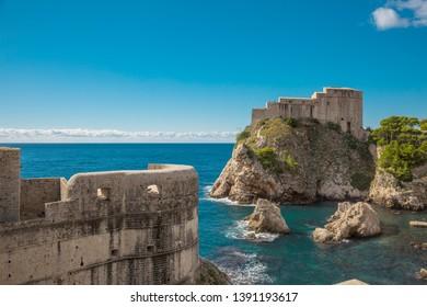 Fortress Lovrijenac in Dubrovnik in croatia
