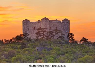 Fortress of Nehaj in Croatia on a summer day (Kroatien, Hrvatska)