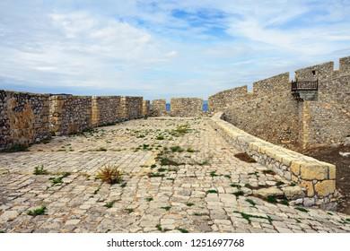Fortress of Neokastro in Pylos, Messinia, Greece