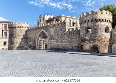 Fortress of the Old Sity Baku, entrance gate. Historical core of Azerbaijan Baku