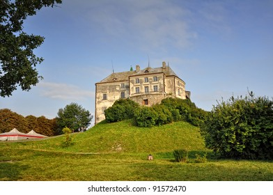 Fortress in Olesko in Ukraine. Small town in Lviv Oblast (province) of western Ukraine. Birthplace of Jan III Sobieski, the King of Poland and Grand Duke of Lithuania.