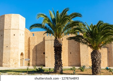 The fortress Ribat Hartem, one of the oldest and largest structures in North Africa, Monastir. Tunisia.
