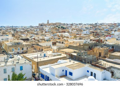 The fortress of Ribat is the perfect place to overlook Medina, Sousse, Tunisia.