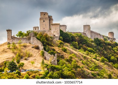 The Fortress Rocca Maggiore - Assisi, Province of Perugia, Umbria Region, Italy, Europe