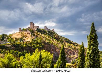 The Fortress Rocca Maggiore - Assisi, Province of Perugia, Umbria Region, Italy, Europe