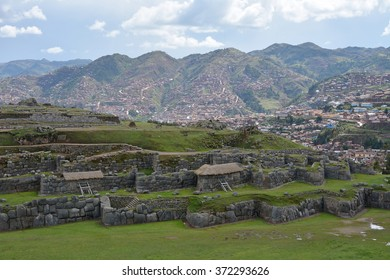 Fortress Sacsayhuaman - the last  stronghold of the Incas in the north of Cusco. Peru.