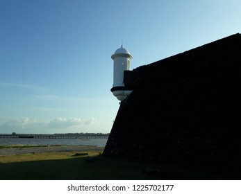 Fortress of Sao Jose de Macapa, with Amazon River on the background