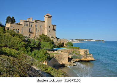 The fortress is standing on the coast of the sea.