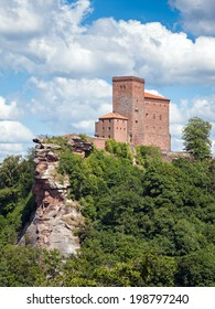 The fortress Trifels in Germany on a sunny day
