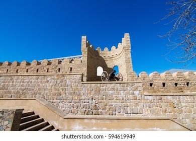 Fortress wall at the old town, Baku, Azerbaijan