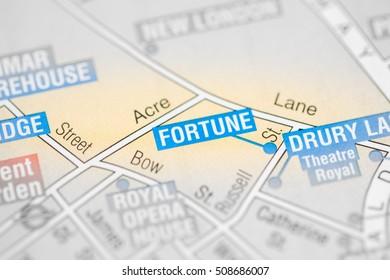 Fortune Cinema. London, UK map.
