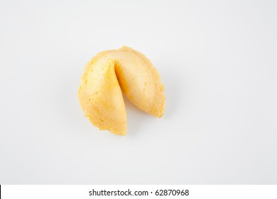 Fortune Cookie Isolated on White Background