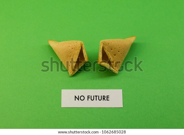 Fortune Cookie Open Saying No Future Stock Photo Edit Now 1062685028