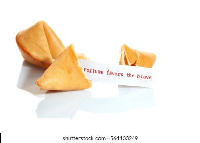 Fortune cookies isolated on white background