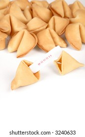 Fortune Cookies with white background