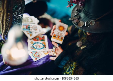 Fortune Teller and Tarot Cards