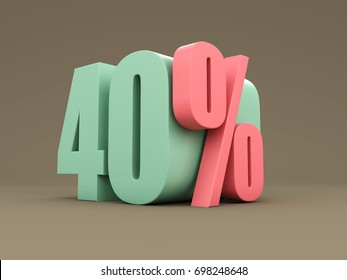 Forty Percent - 3D Rendered Image