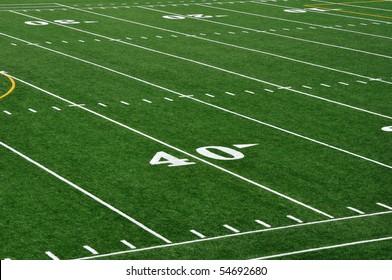 Forty Yard Line on American Football Field