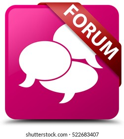Forum (comments icon) pink square button