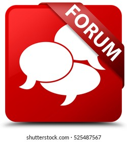 Forum (comments icon) red square button