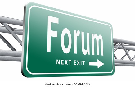 forum internet icon website www logon login and subscribe to participate in discussion , 3D illustration isolated on white.
