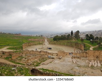The forum in Jerash,Jordan