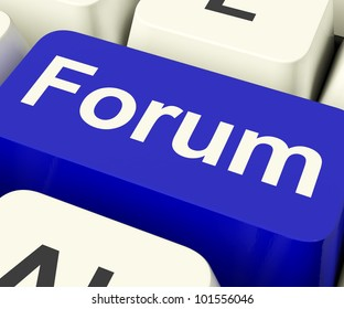 Forum Key As Social Media Community Or Information