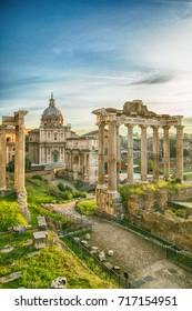 Forum roman rome historic architecture landmark in Italy