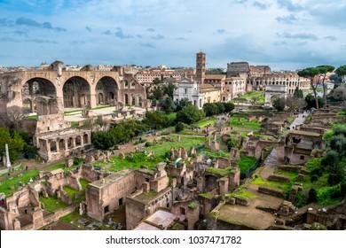 Forum Romanum in Rome in Italy