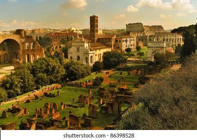 The Forum Romanum in Rome. Italy