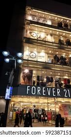 Forver 21 store, Shibuya, Tokyo, Japan. - Shibuya, Japan. January 28, 2017.