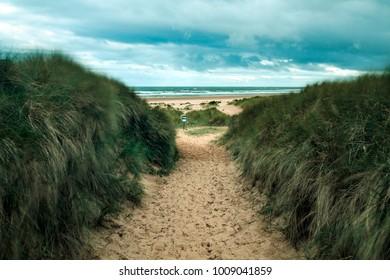 Forvie sands beach, north of Aberdeen.