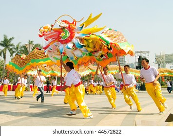 FOSHAN CITY, CHINA  NOV 6: participants in The Lion parade takes place on Nov 6, 2009 in Foshan City, China.