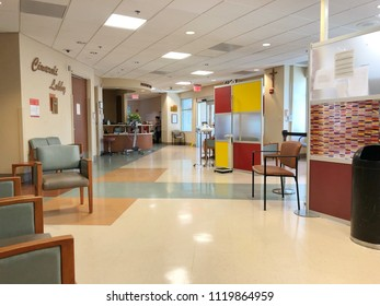 FOSLOM, CA, USA - JUL 21, 2018: Hospital Reception at Emergency Mercy Hospital, Dignity Health