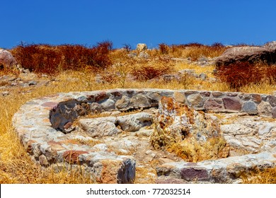 "A fossilized colorful tree trunk from the UNESCO Geopark ""Petrified Forest of Sigri"" on the island of Lesvos in Greece."