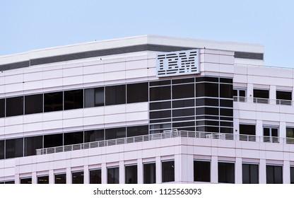 Foster City, CA/USA - Jul. 2, 2018: IBM  Innovation Center in Silicon Valley, Foster City, California
