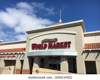 FOSTER CITY, CA/USA - MARCH 22, 2018: Cost Plus World Market store exterior. Cost Plus World Market is a chain of specialty/import retail stores, selling home furniture, decor, curtains, rugs, gifts,