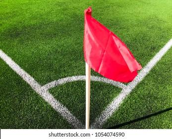 Fotboll field corner flag