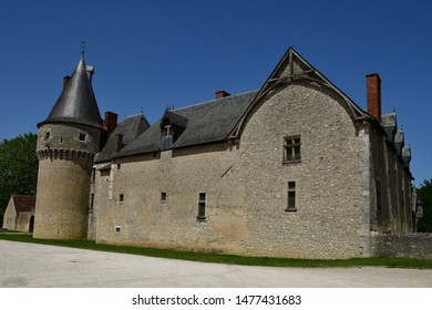 Fougeres sur Bievre; France - june 30 2019: the medieval castle