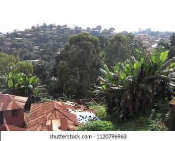 FOUMBAN,  CAMEROON,  AFRICA - CIRCA SEPTEMBER 2010  :  View of FOUMBAN town.
