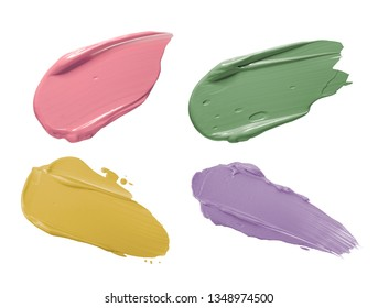 Foundation concealer smudged sample isolated on a white background
