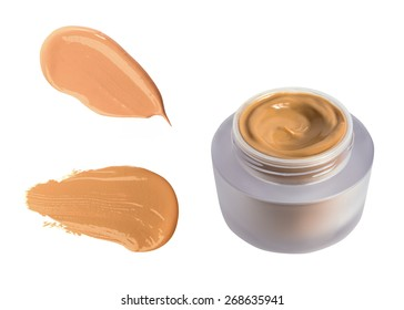 Foundation cream bottle isolated on white background. Concealer