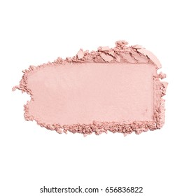 Foundation Makeup Blush Powder Isolated on White Background. Eyeshadow Smudge. Cosmetic Strokes. Foundation Smear. Grooming Products
