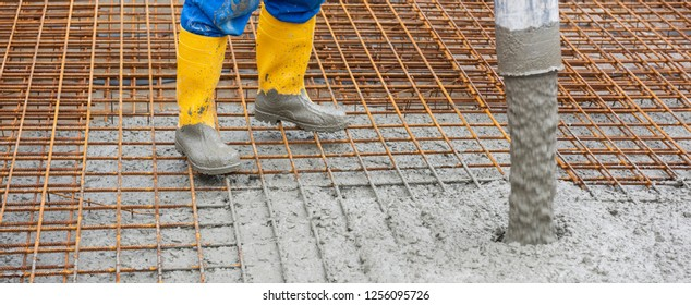 foundation of an new built house in construction