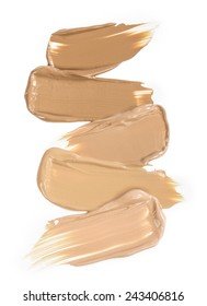 foundation smudges range of colours