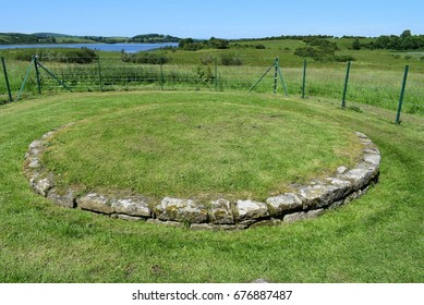 Foundation Stones in Circle Shape, Devenish Island, Lower Lough Erne, County Fermanagh, Northern Ireland